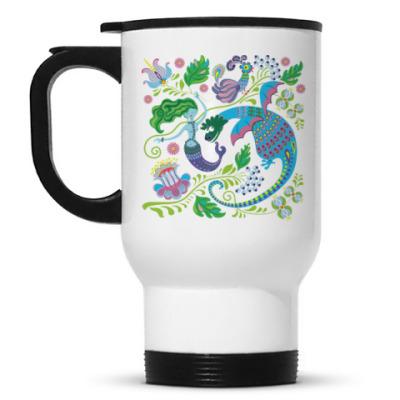 Кружка-термос Дракон и русалка
