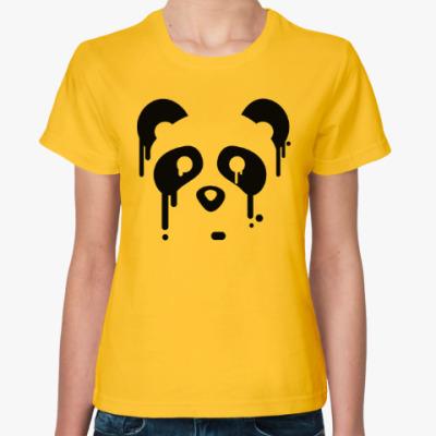 Женская футболка Унылая панда