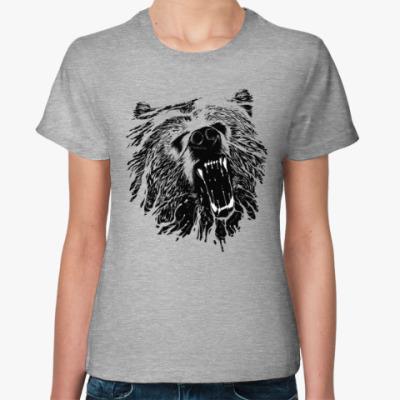 Женская футболка Медвежий оскал