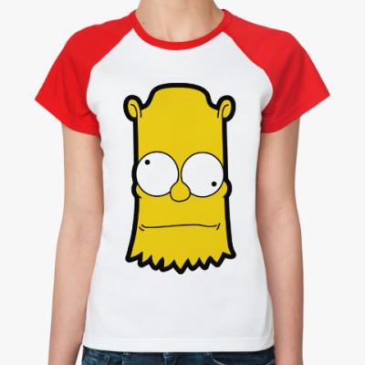 Женская футболка реглан Crazy Bart