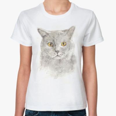 Классическая футболка фамильныйкотопортрет