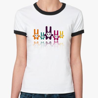 Женская футболка Ringer-T Убитые зайцы