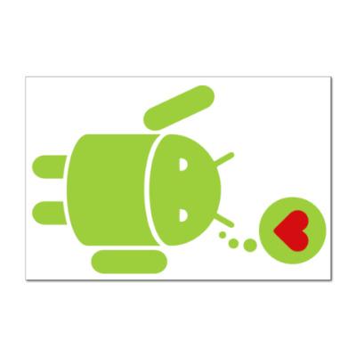 Наклейка (стикер) Love Android