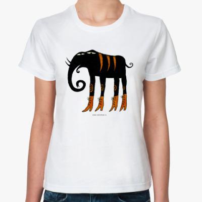Классическая футболка Слон в сапогах