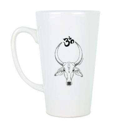 Чашка Латте Священная корова ОМ