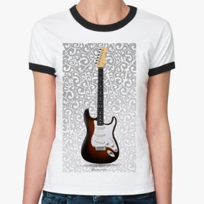 Женская футболка Ringer-T  stratocaster