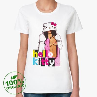 Женская футболка из органик-хлопка Hello kitty