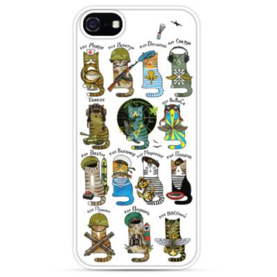 Чехол для iPhone Коты-военные. Моряк, танкист, летчик...