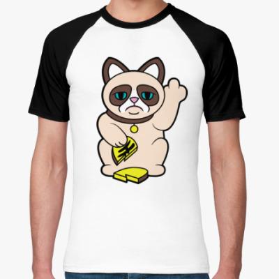 Футболка реглан Tard Grumpy Cat Maneki Neko