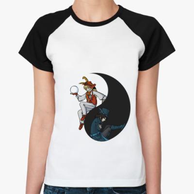 Женская футболка реглан Инь и Янь