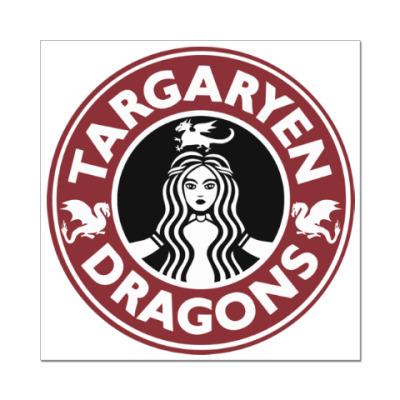 Наклейка (стикер) Драконы Таргариен