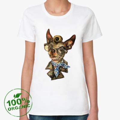 Женская футболка из органик-хлопка Рокабилли собачка