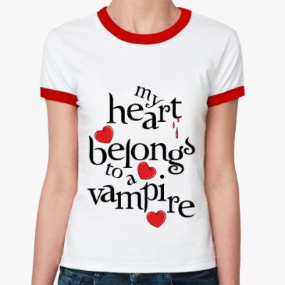 Женская футболка Ringer-T My heart