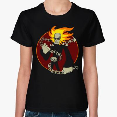 Женская футболка Призрачный Гонщик