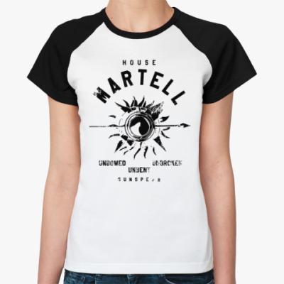 Женская футболка реглан House Martell. Игра престолов