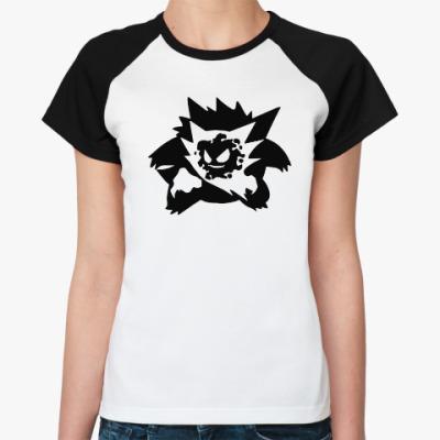 Женская футболка реглан Pokemon Ghosts