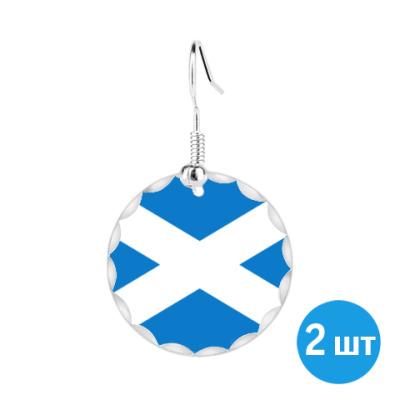 """Серьги Серьги '""""Флаг Шотландии"""""""