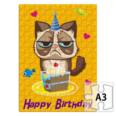 Пазл Угрюмый кот Тард - Grumpy Cat
