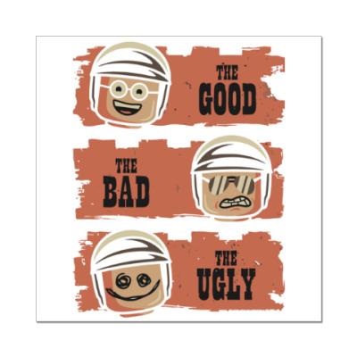 Наклейка (стикер) Лего - хороший, плохой, злой