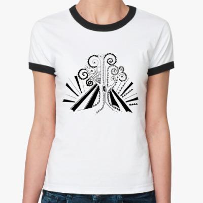 Женская футболка Ringer-T   Дерево
