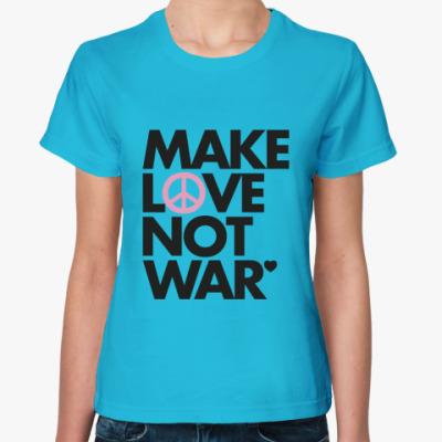 Женская футболка Not war