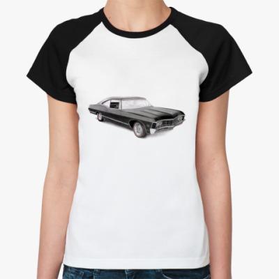 Женская футболка реглан Impala  Ж (бел/чёрн)
