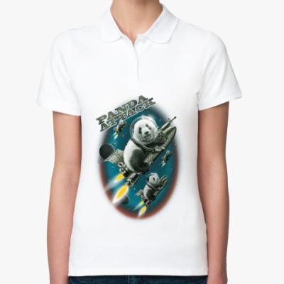 Женская рубашка поло Панды атакуют
