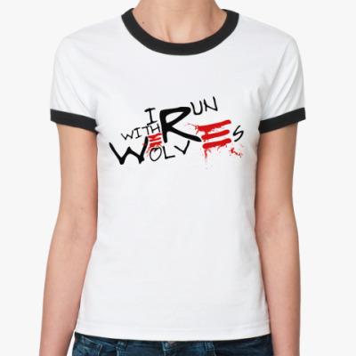 Женская футболка Ringer-T Werewolf  Ж()
