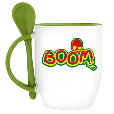 Кружка с ложкой Boom Man