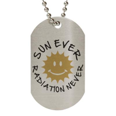 Жетон dog-tag Солнце всегда