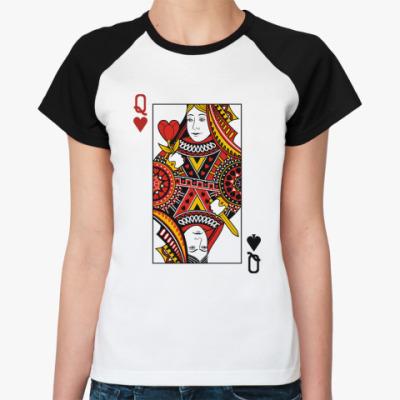 Женская футболка реглан Queen