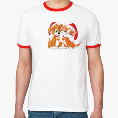 Футболка Ringer-T Собачка и кошка
