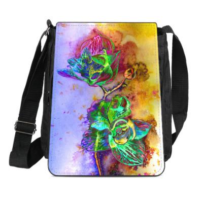 Сумка-планшет Неоновая орхидея