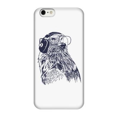 Чехол для iPhone 6/6s Орел с наушниками