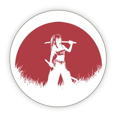 Костер (подставка под кружку) Аниме самурай
