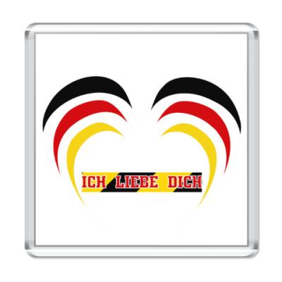 Магнит Я люблю тебя по-немецки