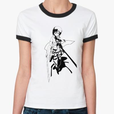 Женская футболка Ringer-T Mikasa