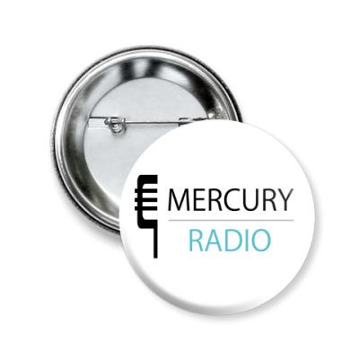 Значок 50мм  Mercury Radio 50 мм
