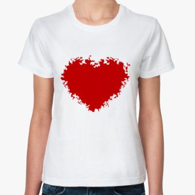Классическая футболка Красное сердце