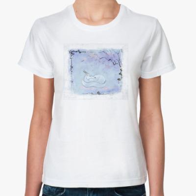 Классическая футболка  Снежный лис.