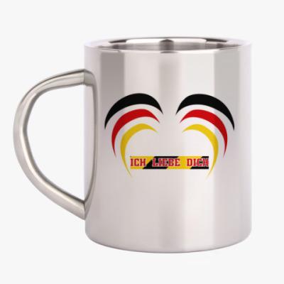 Кружка металлическая Я люблю тебя по-немецки