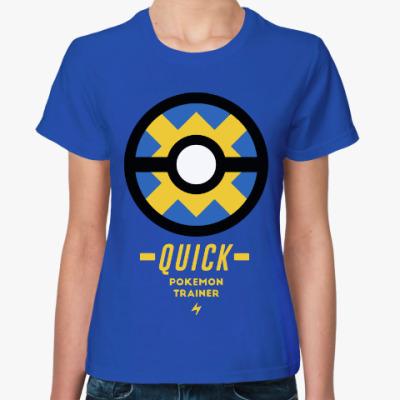 Женская футболка Тренер покемонов