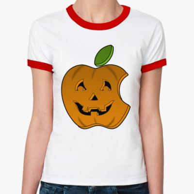 Женская футболка Ringer-T Helloween App ж(б/к)