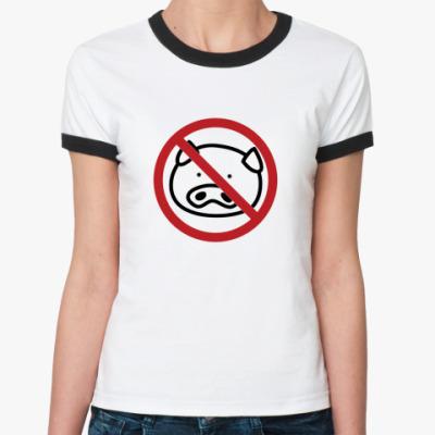 Женская футболка Ringer-T AntiVirus