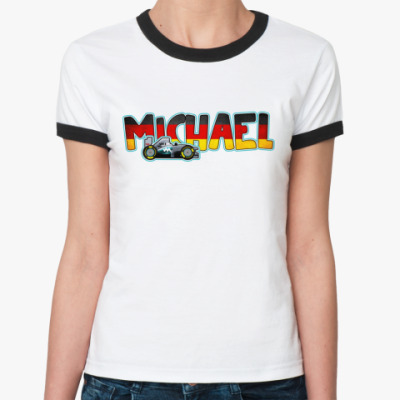 Женская футболка Ringer-T  MICHAEL