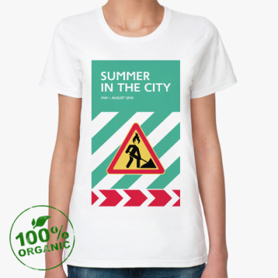 Женская футболка из органик-хлопка Женская футболка Summer in the City — знак