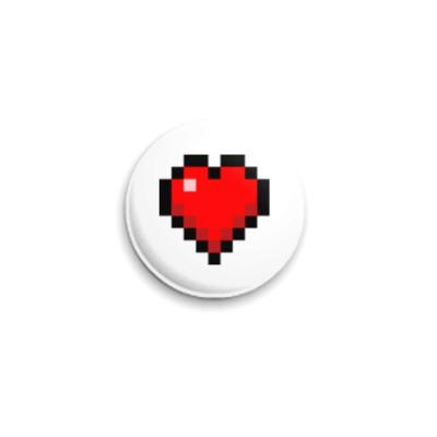Значок 25мм Minecraft Heart