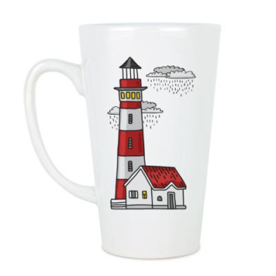 Чашка Латте Красный маяк