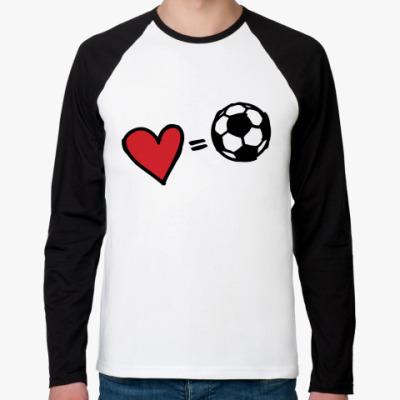 Футболка реглан с длинным рукавом Love equals football