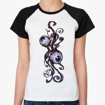 Женская футболка реглан   Глазки